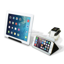 Multi Funtion Desktop for iPad USB Cradle Dock Charger Charging Station Stand holder Mount for iPhone, Watch