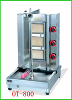 Cooking Equipment Commercial Stainless Steel Gas Doner Kebab Machine(3-burners)(OT-800)