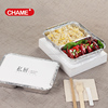 Wholesale custom printed microwave safe bento aluminium disposable lunch box