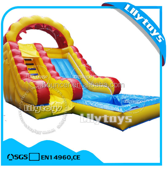 Cheap Inflatable Water Slide with Pool for Sale with PVC Material