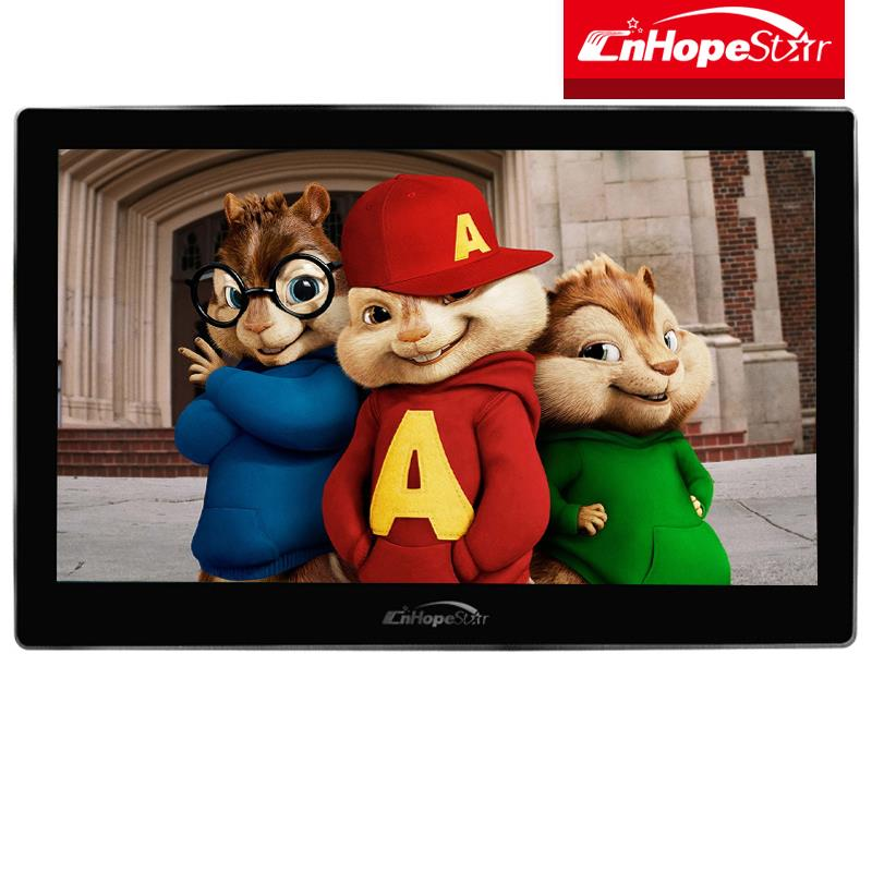 Lcd 15.6 media player tv advertising 12v hot video player