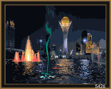 DIY digital cityscape acrylic painting for decor and gifts