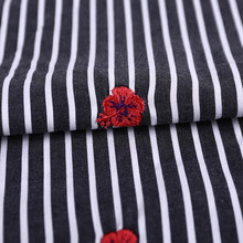 china wholesale top quality 100 cotton stripe fabric cheapest indian embroidered fabric