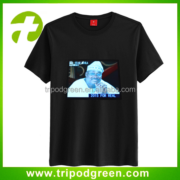 Creat personable sound activated custom led t shirt,led music t shirt