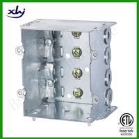 cETL Approved Galvanized Steel IP65 Case 2 Gang Device Electric Box