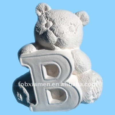 """B "" alphabet bear ceramic bisque bears u-paint"