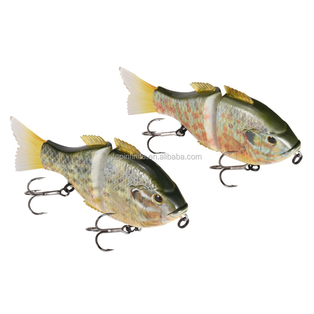 High quality ABS plastic 3d printing fishing lure gliding swimbait - Super Bluegills