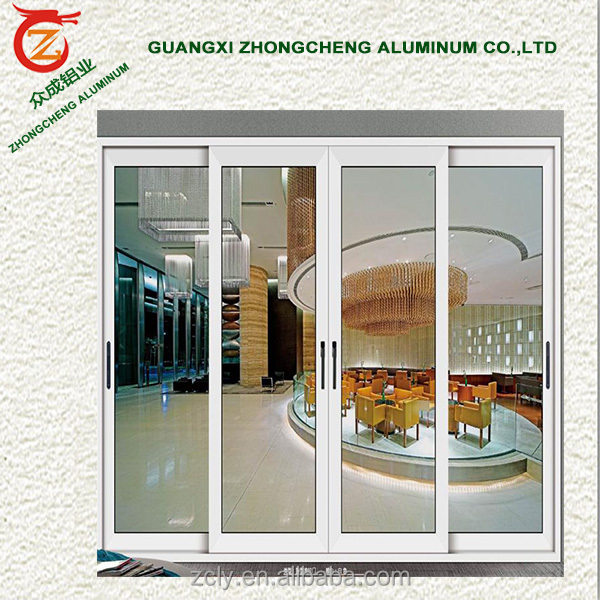 Cheaper price unique custom aluminum modern exterior for Aluminum sliding glass doors price