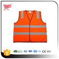 Hi vis pink reflective safety vest with pockets with BSCI