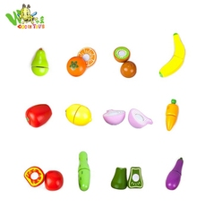FSC brand hot sale new product baby wooden educational toys cutting fruit toys