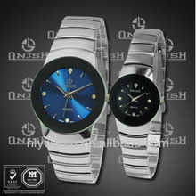 Best selling fashionable sapphire dial swiss pair watches for promotion HLY1626