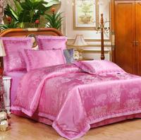 Continental modal cotton bamboo bed sheets, jacquard satin sheets