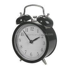 Metal twin bells alarm clock for desktop