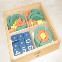 Wooden Froebel Gabe 5P Teaching Assist Tool Learning Educational Preschool Training Numbers and shapes toys