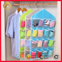 Hottest 16 Pockets Multi Hanging Jewelry organizer Foldable Underwear Sock Closet Storage Organizer