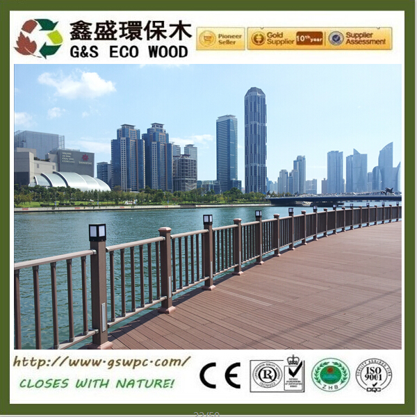 Outdoor WPC Decking Floor waterproof wpc board easily Installed WPC Composite Decking