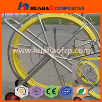 Fiberglass Snake Rodder,Fiber cable pulling tools/Fiberglass duct rodder with wheels