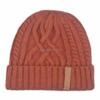 Fashionable Korean style customized acrylic knitted cool winter beanie hats for men boys