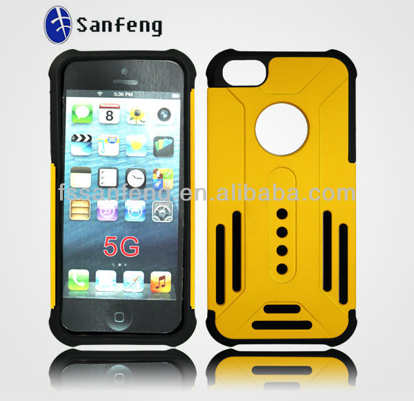 "Gel cover for iphone 5"" case/3d rugged rubber combo case for iphone 5 phones/Protective Case Cover Skin Shell for Apple iPhone 5"
