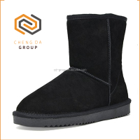 Hot sale Women's Suede Leather Sheepskin Fur Lining Winter Boots