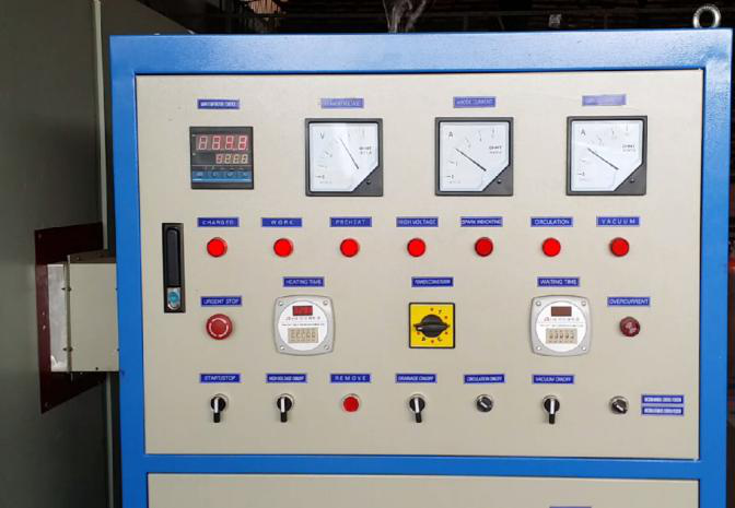 PLC Control with Simens parts high frequency vacuum wood drying kiln