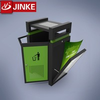 Solar Power Supply Stainless Steel Garbage Can Color Coded Dustbin