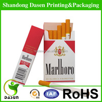 wholesale foldable paper cigarette box for tobacco pack case
