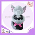 Plush elephant animal toys holding blanket