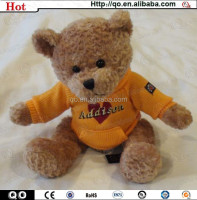 Newest holiday custom teddy bear exquisite plush toy for sale