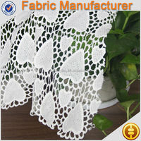 new fashion heart design100 %polyester guipure chemical lace fabric heart print fabric