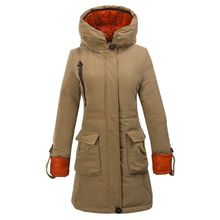 Womens Winter Outdoor Clothing Duck Down Jacket Hoodie Long Parka Warm Snow Coat