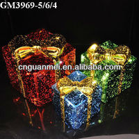 new design christmas glass gift box with led light