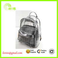 Promotional clear pvc popular backpacks