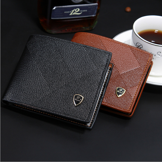 Men's short Embossed High Quality <strong>Wallet</strong>