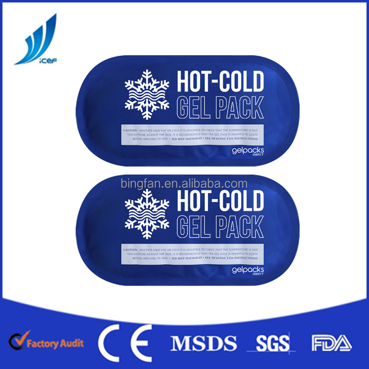 customized Nylon+pvc material hot cold ice pack