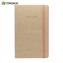 A6 Note Book Fabric Cover Gold Guilt Edge Ruled Journal Casebound Notebook With Ribbon Marker