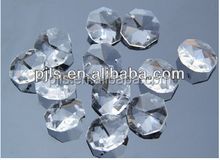 clear or colorful octagonal crystal beads