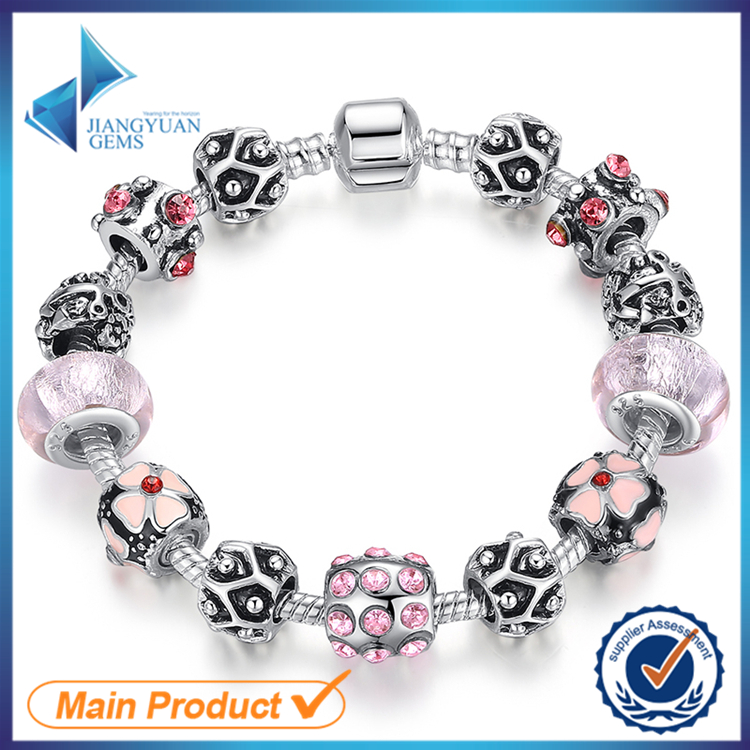 wholesale fashion charm big bead bracelet