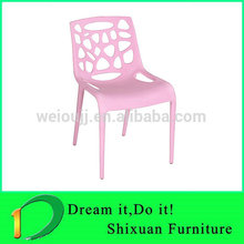 colorful hollow all pp dining chair