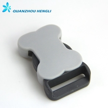Metal Plastic Gray Color Bone Buckle For Release Buckle Dog Collars