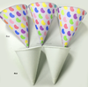 6oz paper cone cup/ice cream cup