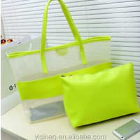 Women Clear Transparent Plastic PVC Shoulder