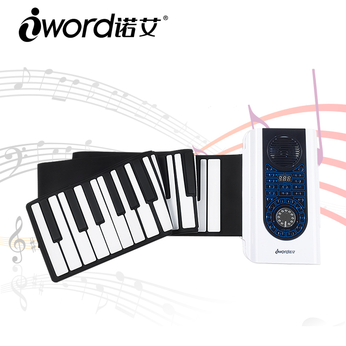 Portable toy laptop keyboard piano 88 keys silicone piano with Loud Speaker for kids