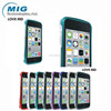 Love Mei brand double color bumper case AL metal mobile phone cover for iphone 5C, for iphone 5C case 8 colors