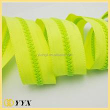 NO.5 colored tape cover long chain plastic zipper