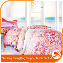 100% polyester printed bed spread/modern bed sheet sets/wedding bed sheet set