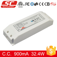 36V 900mA 30W IP20 Triac Dimmable Constant Current LED Driver