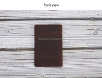 custom vintage bilfold with card slot cow leather passport holder