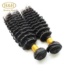 Aliexpress Hot Sale No Tangle No Shedding Grade 7A Raw Unprocessed Virgin Malaysian Deep Curly Hair
