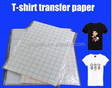 T-shirt transfer paper heat a3 size transfer paper light color & dark color for inkjet printers